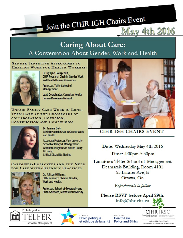 CIHR IGH Event May 4 2016